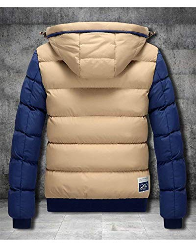 Jacket Version Outwear Cotton Long Outdoor Mixed Sleeve Short Hooded Coat Men's Down Kaki Jackets Color Coat Targogo SRXxqR