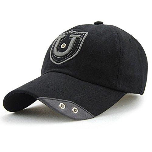 Womens Men Sport Baseball Visor Cap Plain Blank Golf Ball Hat(blue) - 9