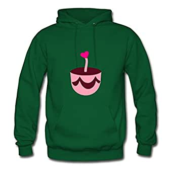 Women Unofficial Vogue Arturobuch X-large Designed ۞»♥choco-strawberry Cupcake With A Heart Candle♥«۞ Green Hoody