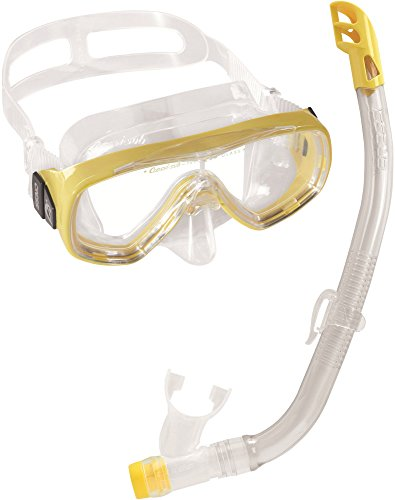 Cressi Elite Mask Snorkel Set Kids, Made in Italy