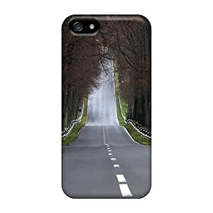 Premium Protection Landscapes Forest Roads Cases Covers For Iphone 5/5s- Retail Packaging