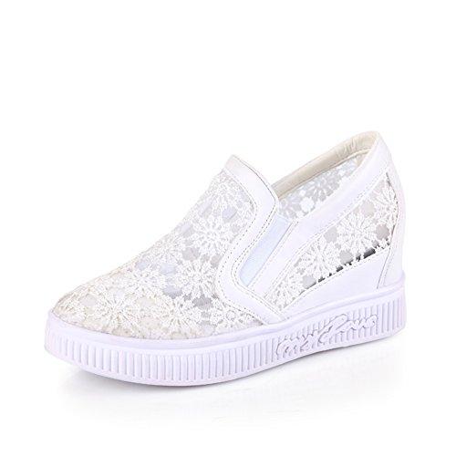 bajos A zapatos la casuales hueco primavera incrementado Joker slip Versión señora en patrón coreana en estudiantes y zapatos Tn4IqxZw