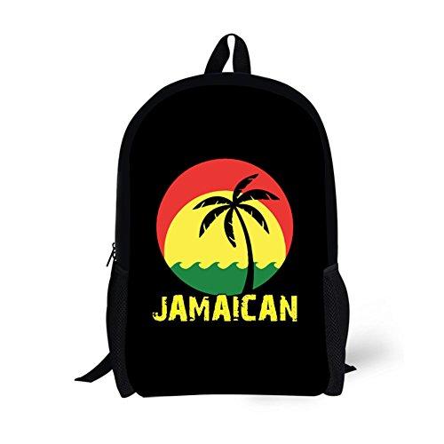Nakgn Coconut Tree Reggae Color Jamaican Backpack Book Bag for Teenagers Child Girls ()