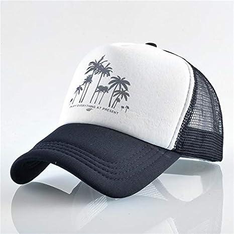 HONGHENG Estilo De Playa Coconut Tree Mesh Gorra De Béisbol Verano ...