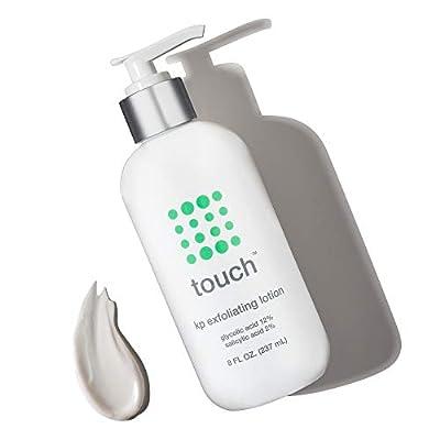 Touch Keratosis Pilaris Treatment with 12% Glycolic Acid & 2% Salicylic Acid - AHA & BHA Exfoliating Rough & Bumpy Skin Lotion - Moisturizing Cream Gets Rid Of Redness, KP, Body Acne - 8 Ounce