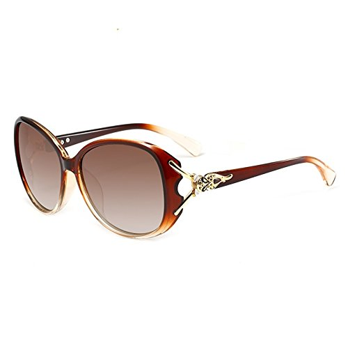 Liyuzhu Polarized Sunglasses Women Fashion Fashion Design Fox Head Shape UV400 Sunglass Oversized Crystal Frame Sun Glasses (Color : 3)