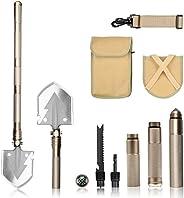 FSDUALWIN Military Portable Folding Shovel, Multifunctional Collapsible Gardening Snow Shovel/Army Camping Sho