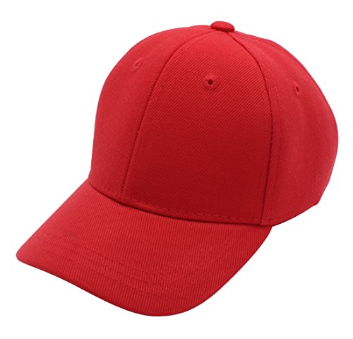 Premium Quality Unisex Toddler Baseball Cap By Top Level – 100% Durable Polyester Hat For Boy Or Girl – Wide Variety Of Colors Available – Sturdy & Durable – Modern & Stylish Design, Red