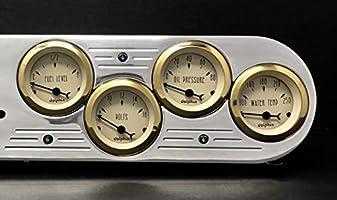 1953 1954 Chevy Car 5 Gauge Dash Panel Instrument cluster Insert Set Gold