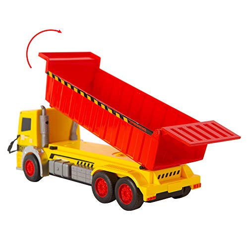 EPFamily Construction Dump Truck Toy, Push and Go Dump Truck Toys, Construction Toys Vehicle for Boys and Girls, Toddler Toy Trucks with Movable Parts - Realistic Design