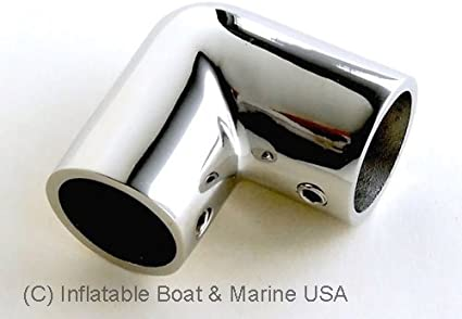 "Useful 7//8/"" Boat Hand Rail Fitting 90 Degree Elbow 316 Stainless Steel Polished"