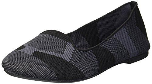 Skechers Women's Cleo-Sherlock-Engineered Knit Loafer Skimmer Ballet Flat, Black, 6.5 M US by Skechers