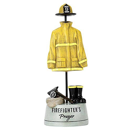 (Dicksons Firefighter's Prayer Uniform Yellow 9.5 x 4 Resin Stone Table Top Figurine)
