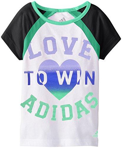 Adidas Baby Girls Short Sleeve Raglan Tee