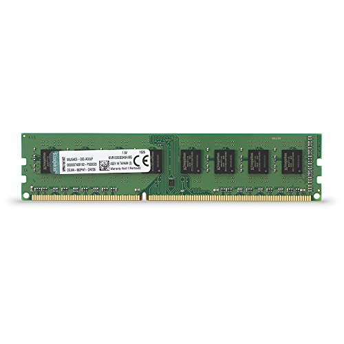 Kingston Technology ValueRAM 8GB 1333MHz DDR3 Non-ECC CL9 DIMM STD Height 30mm Desktop Memory 8 (PC3 10600) KVR1333D3N9H/8G