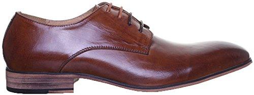 Chaussures Reece Marron Justin Brown JL25 de ville pour homme lacets à Ow88qd5