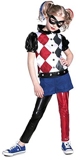 Princess Paradise DC Super Hero Girls Premium Harley Quinn Costume, Red/Black/White, Medium
