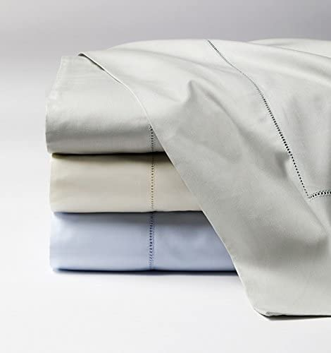 Amazon.com: Celeste Linens by SFERRA, Queen Flat Sheet, White ...