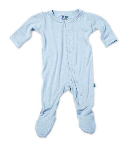 KicKee Pants Little Boys' Infant Solid Footie, Pond, 5Y