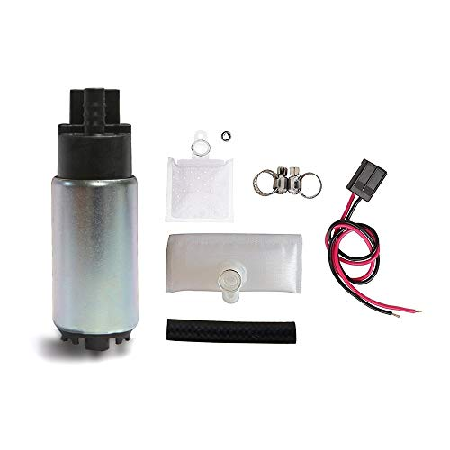 Fuel Pump And Strainer for Cars Trucks SUVs GAS Fuel Pump Universal With Installation Kit Fits Chevrolet Acura Chrysler Dodge Honda Hyundai Subaru OEM # E2068 HFP-382 ()