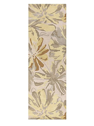Surya Athena ATH-5071 Contemporary Hand Tufted 100% Wool Ivory 2'6'' x 8' Abstract Runner by Surya