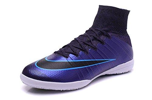 資本空港ビートMercurialx Proximo OBRA IC boots-indoor-squadron blue-black-whiteメンズハイトップフットボールサッカーブーツ靴