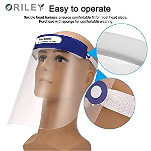 ORILEY 350 Micron Disposable Face Shield with...