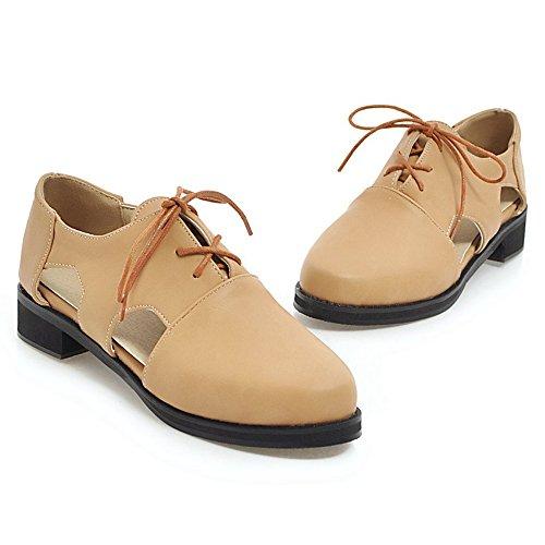 Toe Women Cut TAOFFEN Summer Shoes Shoes Out Camel Round Block Heel 8SFqqwdZ