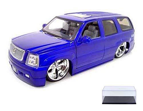 - Diecast Car & Display Case Package - Cadillac Escalade SUV, Purple - Jada Toys Dub City 63102 - 1/18 Scale Diecast Model Toy Car w/Display Case