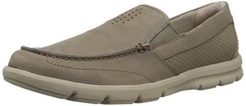 CLARKS Men's Jarwin Race Loafer, sage Nubuck, 7 Medium US ()