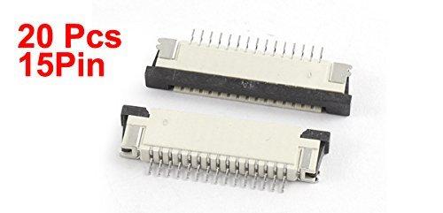 Amazon.com: eDealMax a15070400ux0735 20 Pieza de puertos inferiores 15Pin 1,0 mm Pitch FFC FPC de la Cinta de sockets Conector: Industrial & Scientific