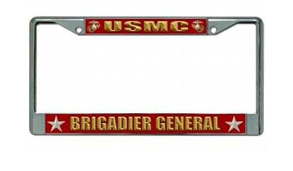 USMC General Chrome License Plate Frame