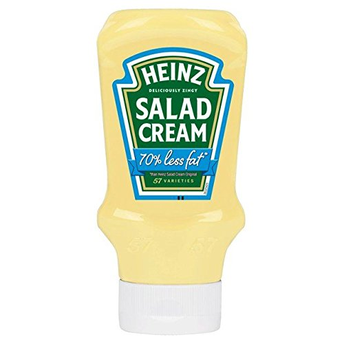 Heinz Cream (Heinz Top Down Light Salad Cream 70% Less Fat - 435g)