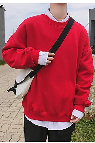 De Camiseta Daily Suéters Beggy Rojo Chándal Sólida Hombre Para Manga Larga Moda aFFrqwd
