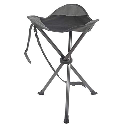 PORTAL Tall Slacker Chair Folding Tripod Stool for Outdoor Camping Walking Hunting Hiking Fishing Travel, Support 225 lbs