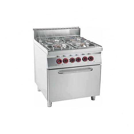 Cocina de gas con 4 quemadores y horno: Amazon.es: Grandes ...