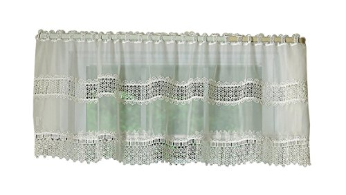 Violet Linen Treasure Macrame Lace Window Valance, for sale  Delivered anywhere in USA