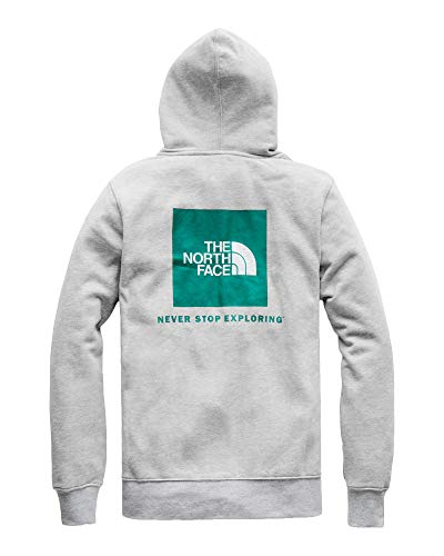 The North Face Men's Red Box Pullover Hoodie - TNF Light Grey Heather & Everglade - S