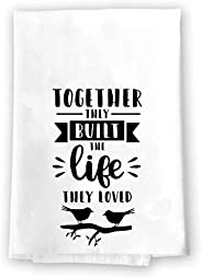 Farmhouse Rustic Kitchen Bathroom Decor | Together They Built The Life They Loved | Decorative Microfiber Velo