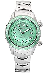 The Abingdon Co Marina Dive Watch in Caribbean Green with Wetsuit Band Expander