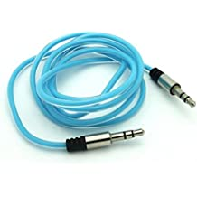 Blue Aux Cable Car Stereo Wire Audio Speaker Cord 3.5mm Aux-in Adapter Auxiliary for Alltel iPhone 5 - Alltel iPhone 5C - Alltel iPhone 5S - Alltel LG Optimus Select