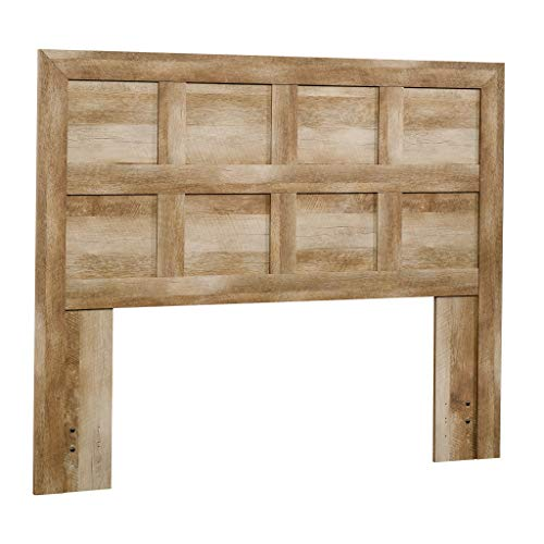 Sauder Dakota Pass Full / Queen Panel Headboard, Crafsman Oak Dark Oak Panel Bed