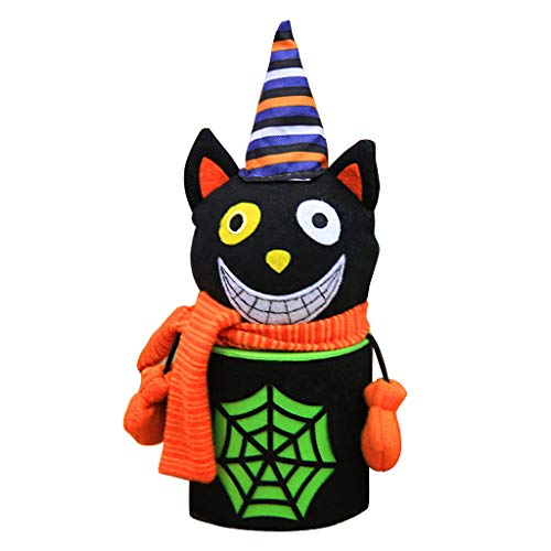 cici store Halloween Black Cat Candy Cookie Snacks Storage Box,Candy Collection Bag Jar Party Decor