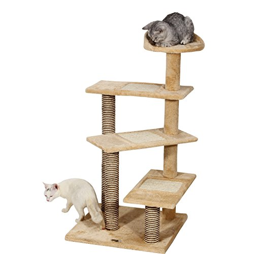 """Ollieroo 40"""" H Multi-Level Kitten Cat Tree Furniture Climber Rope Ladder 5 Tiers Cat Tower Cat Scratching Pads Scratching Posts Use the Steps as a Ladder to Climb Kitten Tree"""