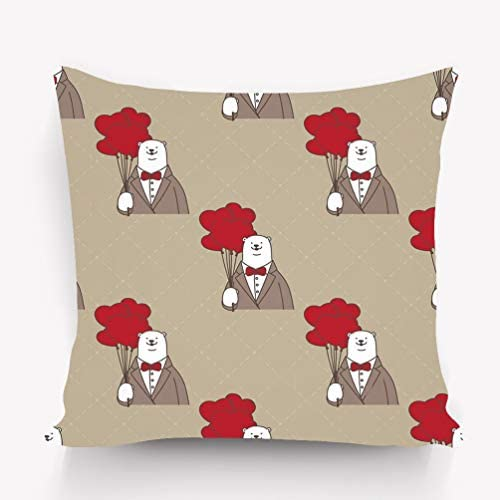 Bear illustration No.4 housses de coussin taies d/'oreiller décoration intérieur