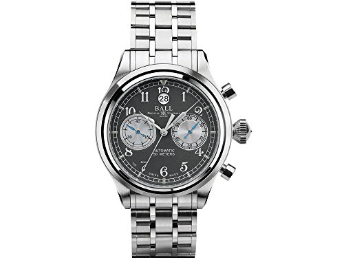 - Ball Trainmaster Cannonball S Grey Dial Automatic Men's Chronograph Watch CM1052D-S2J-GY