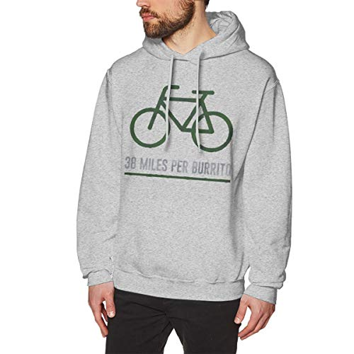 ZooJane Mens Long Sleeve 38 Miles Per Burrito Bike Funny Running Fleeces M