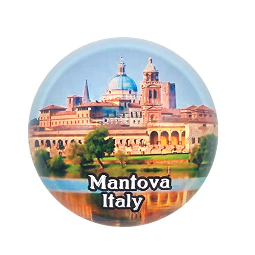 Mantova Italy Fridge Magnet 3D Crystal Glass Tourist City Travel Souvenir Collection Gift Strong Refrigerator Sticker ()