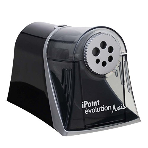 - Westcott Electric iPoint Evolution Axis Heavy Duty Pencil Sharpener, Black and Silver