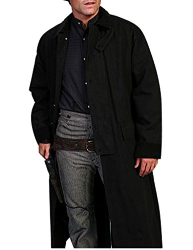 Rangewear By Scully Men's Long Canvas Duster Black Large ()